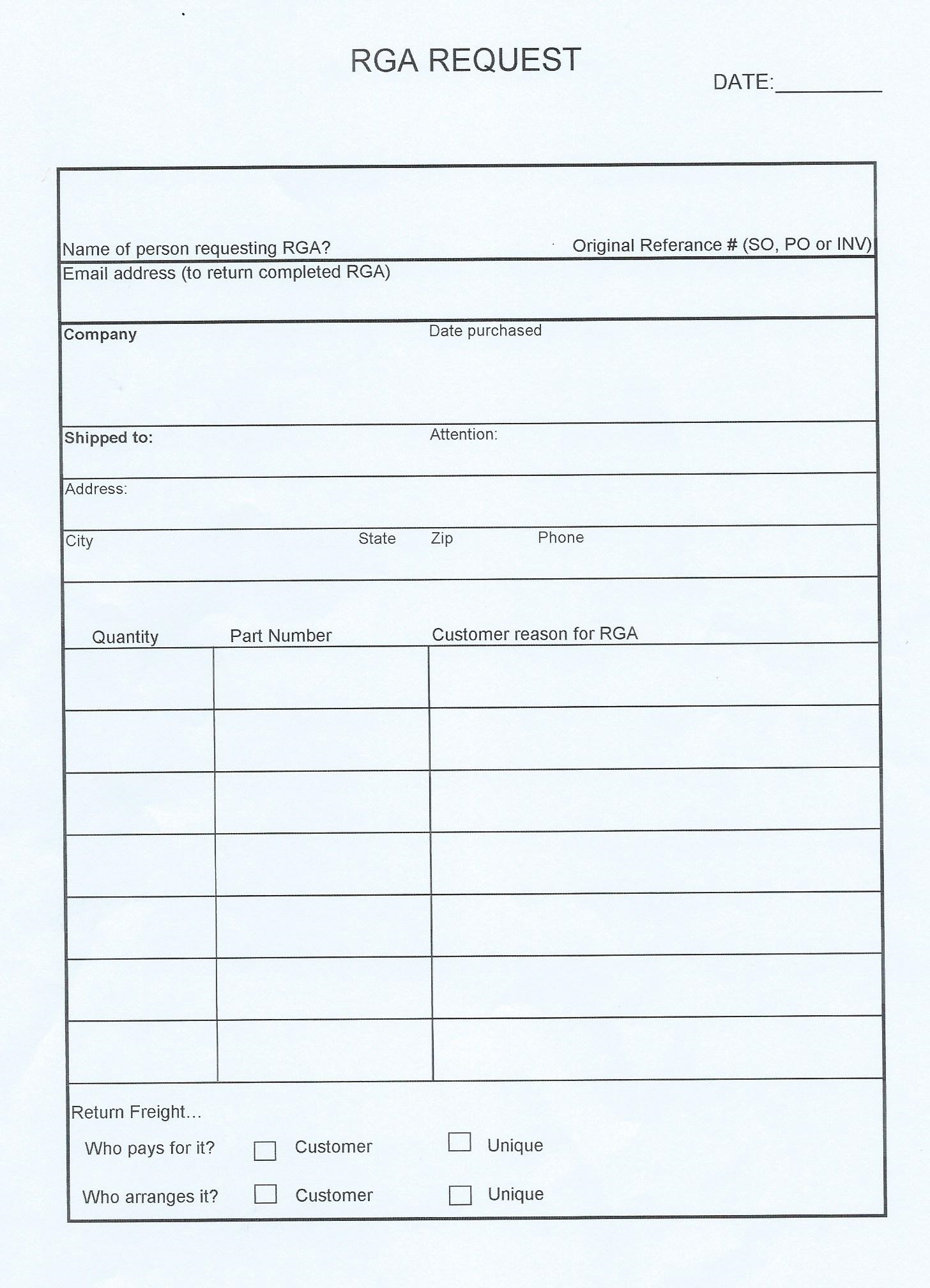 Warranty request template driverlayer search engine for Rma request form template